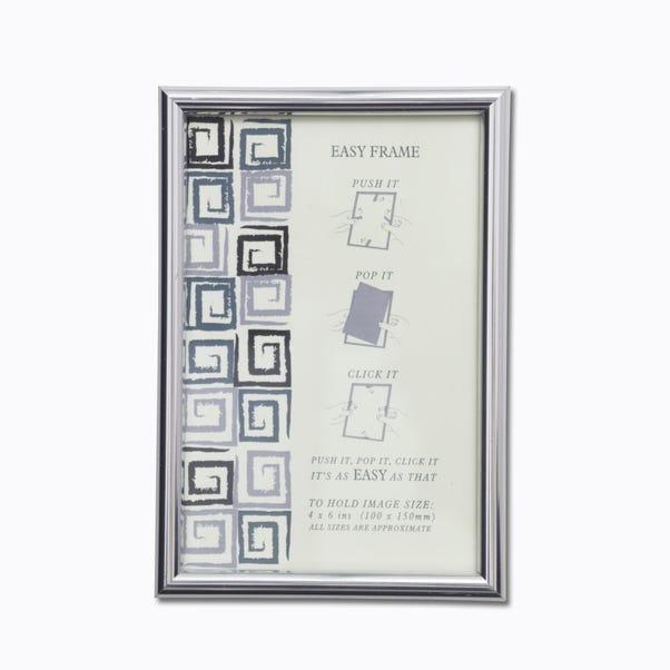 "Chrome Easy Frame 6"" x 4"" (15cm x 10cm) Silver (Grey)"