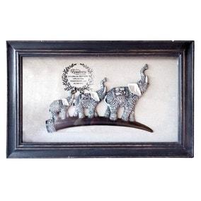 Framed Elephants Wall Art