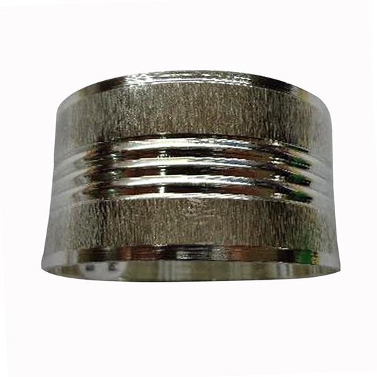 Ribbed Metal Band Napkin Ring Silver