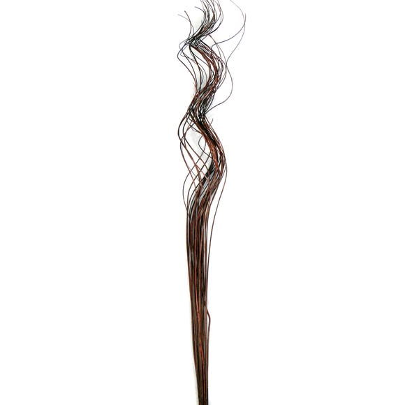 Artificial Curly Willow Brown 98cm Brown