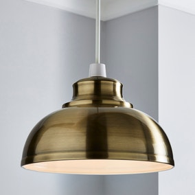 Galley Antique Brass Easy Fit Pendant