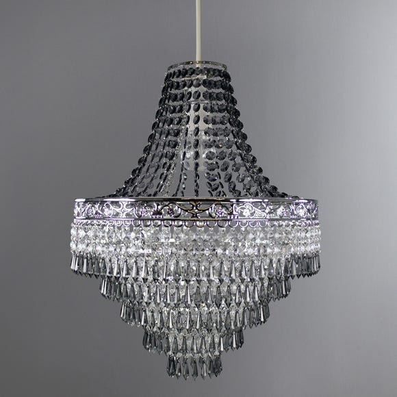 Blenheim Smoked Jewels Chandelier Easy Fit Pendant Smoke (Grey)