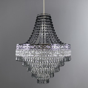 Blenheim Smoked Jewels Chandelier Easy Fit Pendant
