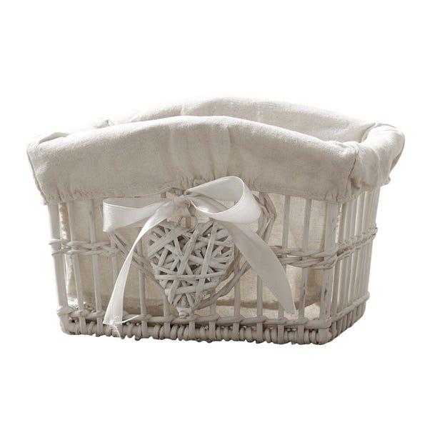 White Willow Small Basket White
