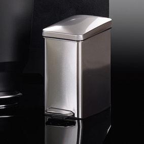 simplehuman Profile Fingerprint Proof Stainless Steel 10 Litre Pedal Bin