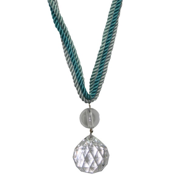 Crystal Droplet Tieback Duck Egg (Blue)