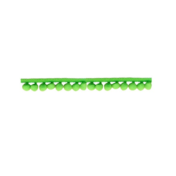 Small Pom Pom Trim Lime (Green)