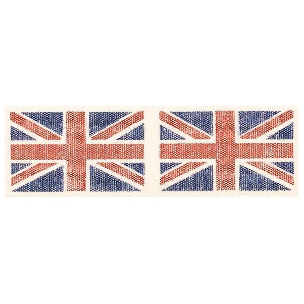 Vintage Union Jack Flag Ribbon Blue