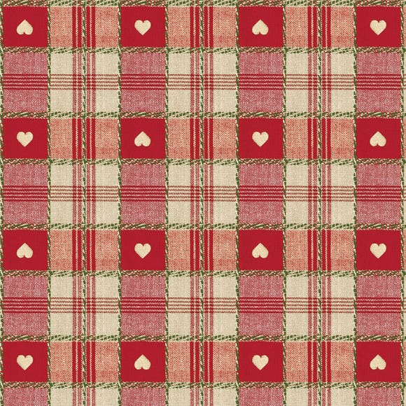 Red Hearts PVC Red