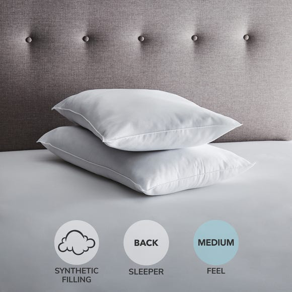 Fogarty Anti-Allergy Medium-Support Pillow Pair White