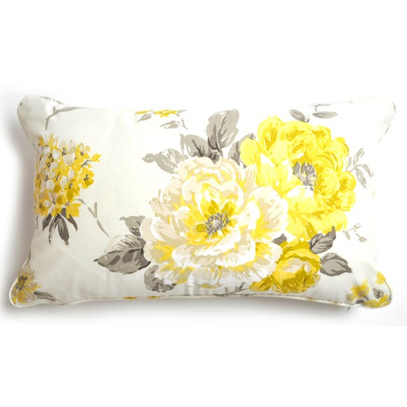 Windermere Yellow Boudoir Cushion Lemon Yellow