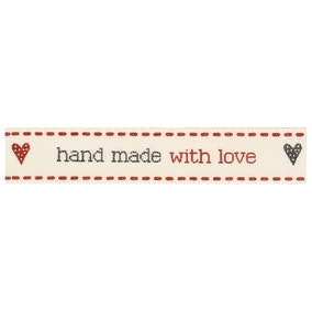 Hand Made with Love Ribbon
