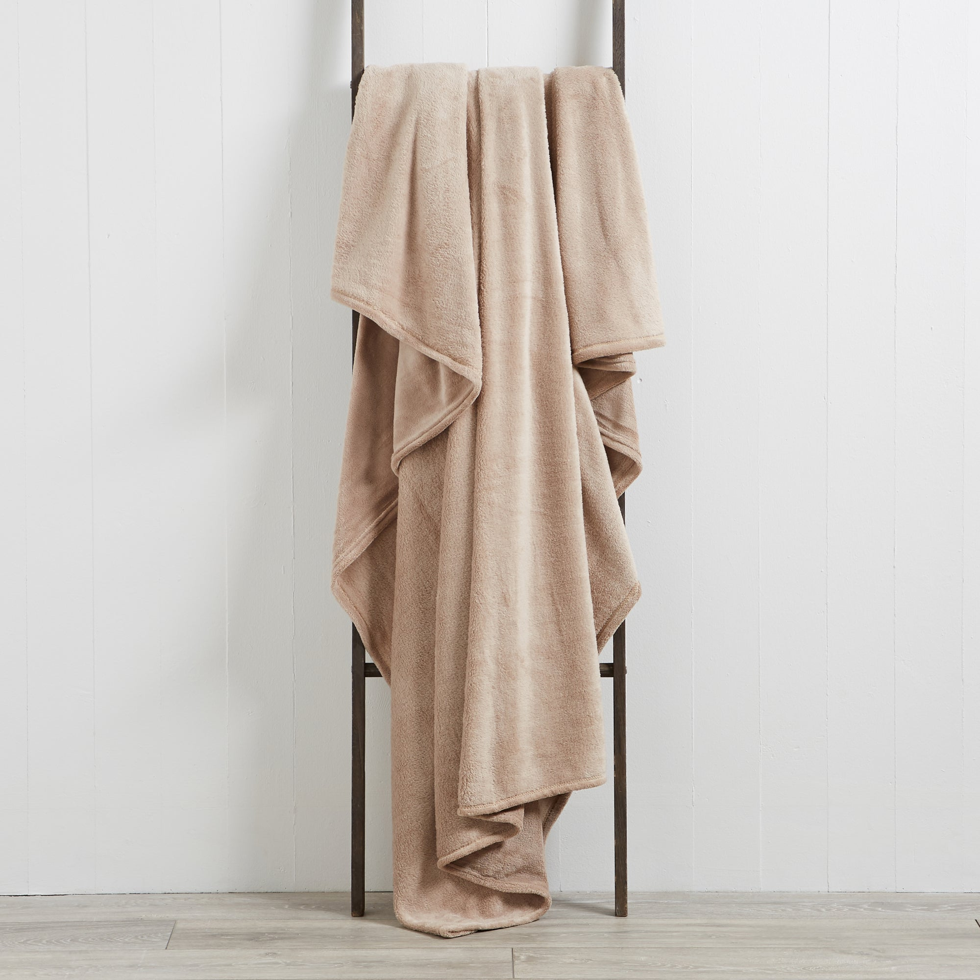 Photo of Seriously soft 180cm x 230cm throw light brown / natural