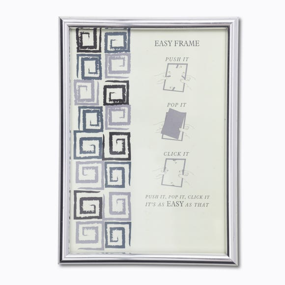 "Chrome Easy Photo Frame 16"" x 12"" (40cm x 30cm) Grey"