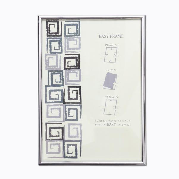 "Chrome Easy Photo Frame 32"" x 24"" (81cm x 61cm) Silver (Grey)"
