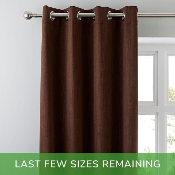 Solar Chocolate Blackout Eyelet Curtains Chocolate (Brown) undefined