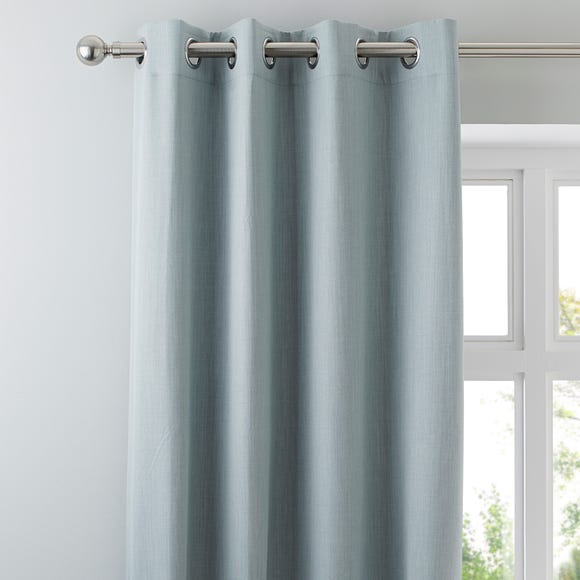 Solar Duck Egg Blackout Eyelet Curtains  undefined