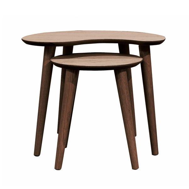 Skandi Walnut Nest of Tables Walnut (Brown)