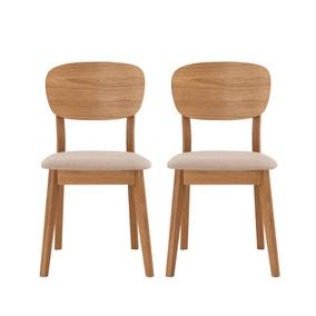 Skandi Oak Set of 2 Veneer Back Dining Chairs
