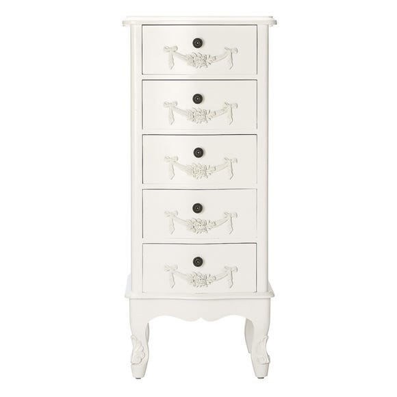 Toulouse Ivory 5 Drawer Tallboy Ivory