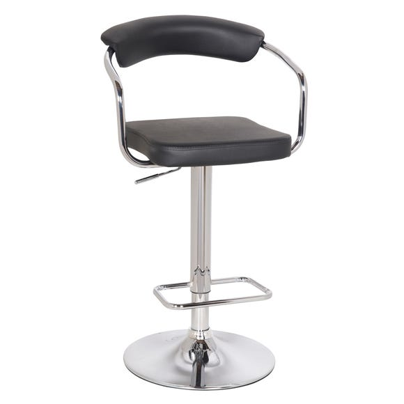 Houston Bar Stool Black PU Leather