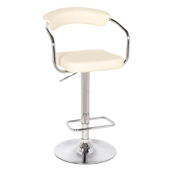 Houston Bar Stool Cream PU Leather Cream (Natural)