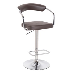 Houston Bar Stool Brown PU Leather