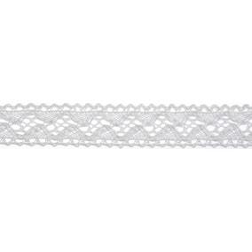 Bowtique White Lace Wave Ribbon