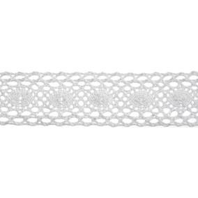 Bowtique White Wide Lace Ribbon
