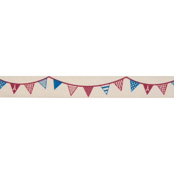 Bowtique Bunting Ribbon MultiColoured