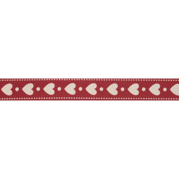Bowtique White Heart Ribbon Red