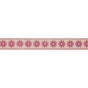 Bowtique Pink Flower Ribbon