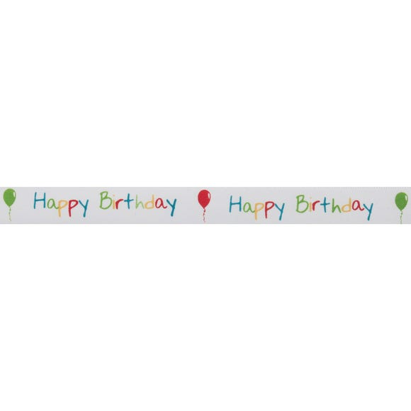 Bowtique Happy Birthday Satin Ribbon MultiColoured