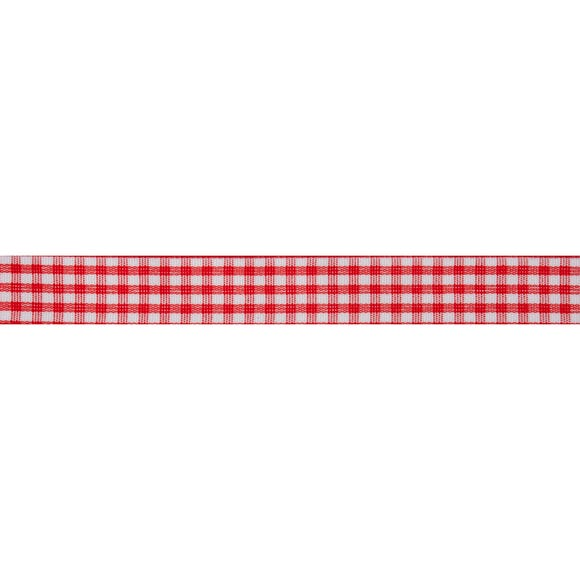 Bowtique Gingham Ribbon Red
