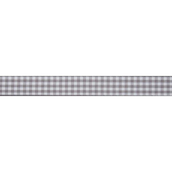 Bowtique Gingham Ribbon Light Grey