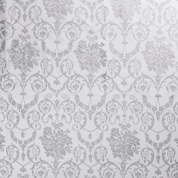 Silver Damask PVC Silver