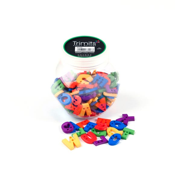 Button Jar Alphabet Letters MultiColoured