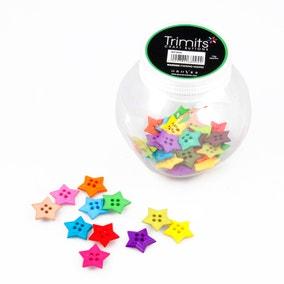 Stars Button Jar