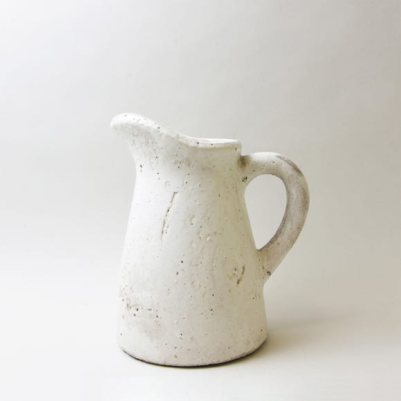Chalk Cottage Jug with Tilted Spout White