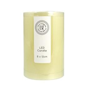 LED Church Candle 8cm x 12cm