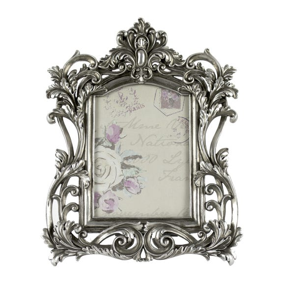 Maison Chic Silver Ornate Frame Silver (Grey)