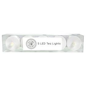 LED Church Pack of 5 Tea Lights