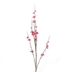 Artificial Blossom Flower Mauve Single Spray 92cm