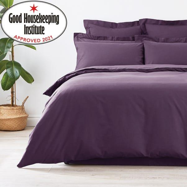 Non Iron Plain Dye Blackcurrant Duvet Cover  undefined