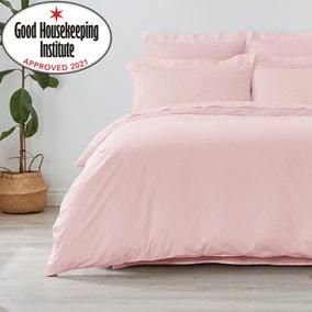 Non Iron Plain Dye Dusky Pink Duvet Cover