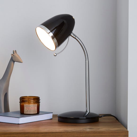 Tate Black and Chrome Desk Lamp Black