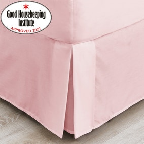 Non Iron Plain Dye Dusky Pink Valance