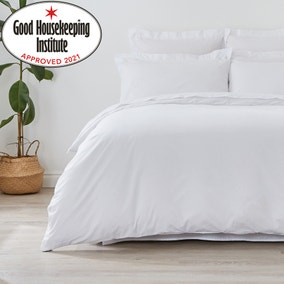 Non Iron Plain Dye White Duvet Cover