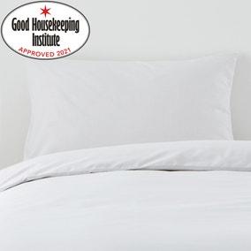 Non Iron Plain Dye White Housewife Pillowcase Pair