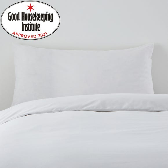 Non Iron Plain Dye White Kingsize Pillowcase Pair